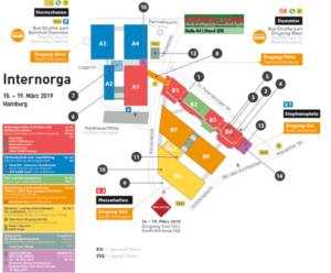 Fairmessage Hallenplan Internorga 2019