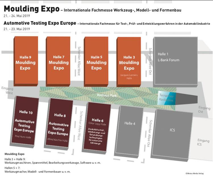 Hallenplan Moulding Expo 2019