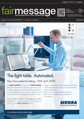 Aktuelle Ausgabe der Fairmessage zur K-Kunststoff 2019
