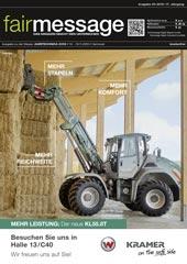 Aktuelle Ausgabe der Fairmessage zur AGRITECHNICA 2019